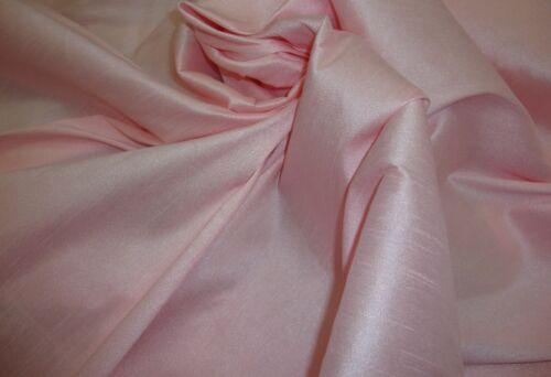 Dupioni Silk Faux Fake Shantung Pink Ice Fabric drapery wedding sold 50 Yards