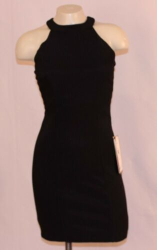 Emerald Sundae Black Halter Side Lace Up Body Con Cocktail Dress NWT #1000TFI