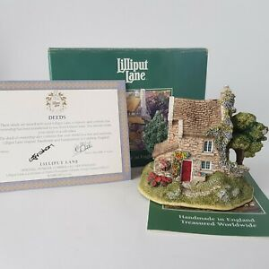 Lilliput-Lane-Cottages-Windy-Ridge-L2007-in-Box-with-Deeds-CoA-1996-A7