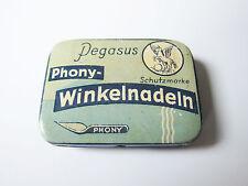 Grammophon NADELDOSE PEGASUS PHONY WINKELNADELN gramophone needle tin