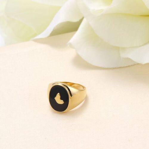 College anillo oro chapadas//esmaltadas anillo de sello hx10064 Anillo de hombre