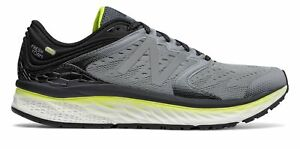 New-Balance-Men-039-s-Fresh-Foam-1080v8-Shoes-Grey-with-Black-amp-Yellow