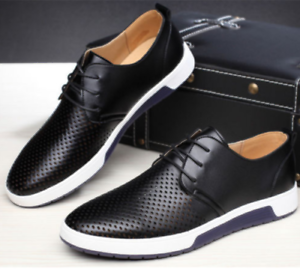 British-Men-Casual-Genuine-Leather-Shoes-Lace-up-Sneakers-Oxford-Breathable-New