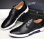 British-Men-Casual-Genuine-Leather-Shoes-Lace-up-Sneakers-Breathable-Shoes thumbnail 2