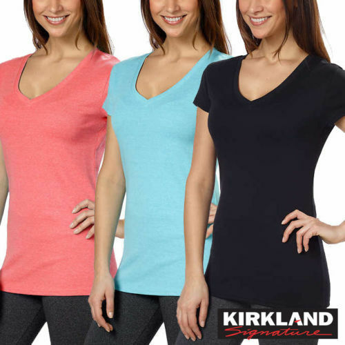 Colors neck M Kirkland Xxl V S Many Tee Signature Xl Ladies' L Cotton Sizes Nwt pPa8qp