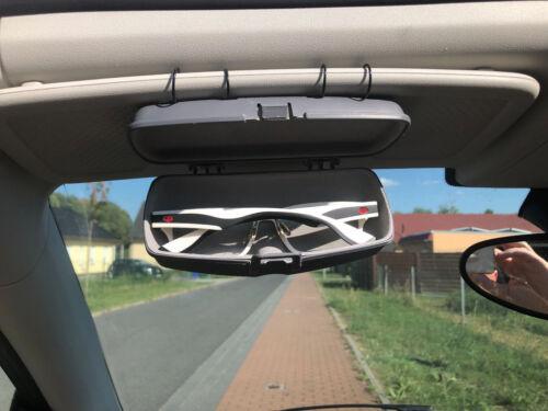 Voiture Auto Etui à lunettes de soleil Etui à lunettes pare-soleil sac de rangement-Gris