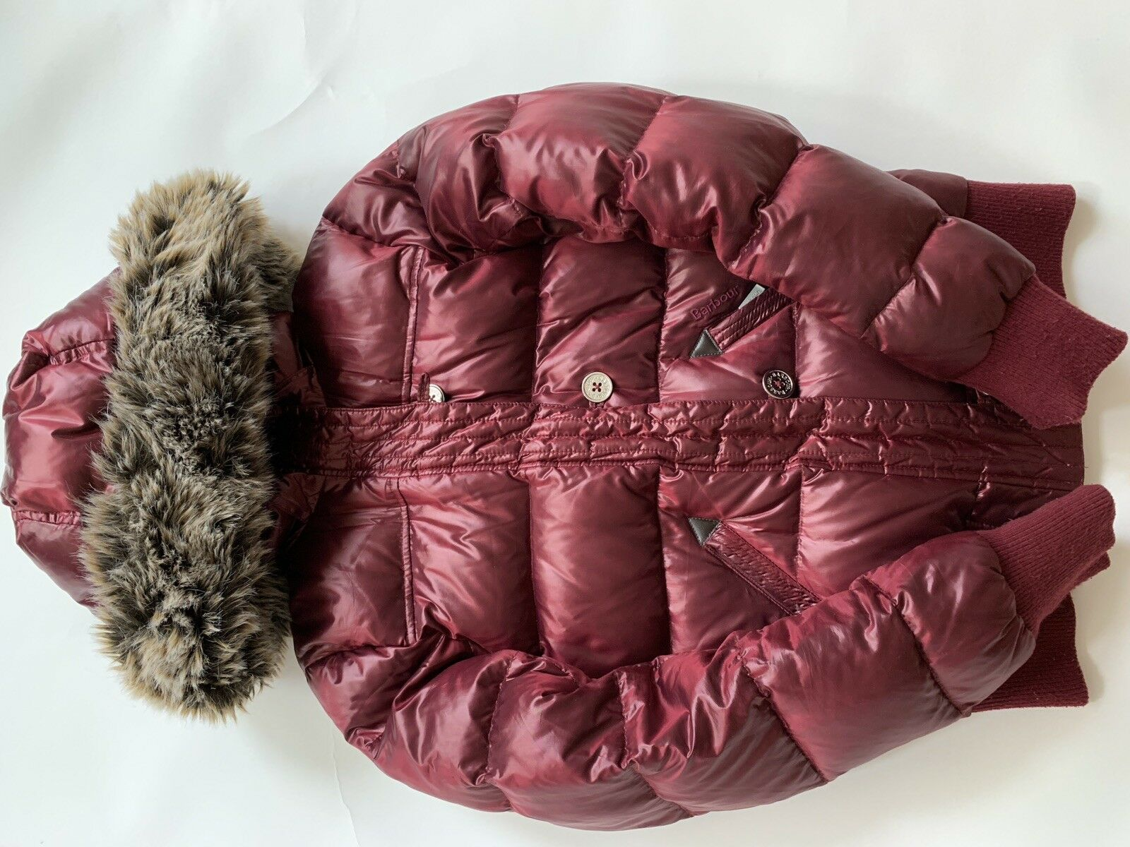 Barbour Heritage Mercury Down Puffer Bomber Red - image 6
