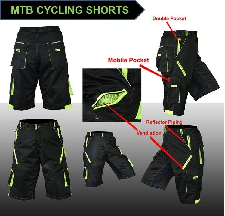 NEW  Features MTB Cycling Shorts,Mountain Biking,Off Rd,Padded Inner Liner  no hesitation!buy now!