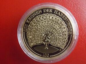 * Les Couronnes Des Habsbourg * Médaille Pp Plaqué Or * Environ 40 Mm (kof5)-afficher Le Titre D'origine
