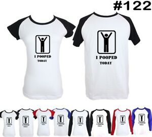 I-Pooped-Today-Funny-Design-Couple-T-Shirt-Men-039-s-Women-039-s-Graphic-Tees-Tops-Tshit