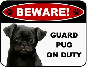 Beware Guard Border Collie on Duty v1 9 inch x 11.5 inch Laminated Dog Sign