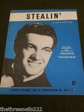 Partitura Original-Stealin' - Frankie Vaughan