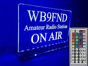 Upgrade-Only-110V-to-44-Key-Remote-Engraved-LED-Amateur-Radio-Call-Sign