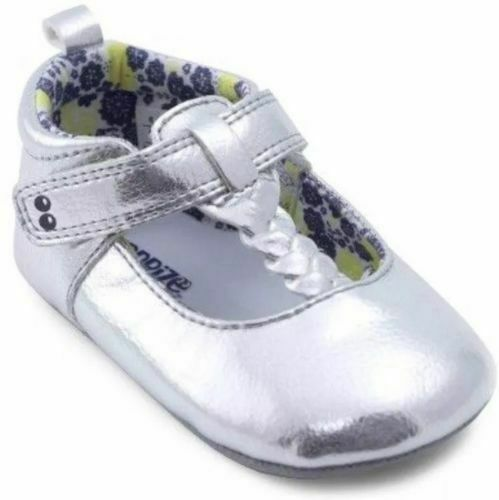 Baby Girls Sneaker Shoes Silver Sparkle Sugar 06M 12-18M Stride Rite #r4