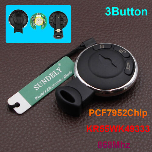 Replacement for 2007-2014 BMW Mini Cooper Smart Remote Car Keyless Entry Key Fob