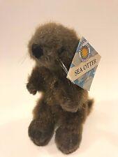 "Smithsonian Oceanic Collection Sea Otter Plush 8"" Stuffed Animal Brown 2008 NEW"