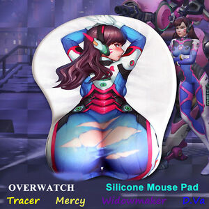 Ow Overwatch Game 3d Mouse Pad Hot Tracer Mercy Widowmaker