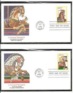 US-SC-2390-2393-Carousel-Animals-FDC-Fleetwood-Cachet