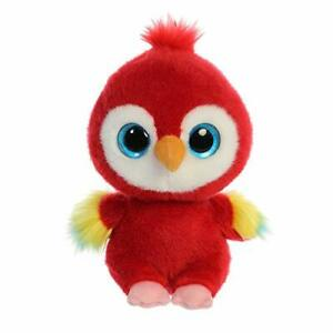 Collectible-Soft-Toy-Cute-Stuffed-Animal-YooHoo-Lora-Scarlet-Macaw-8-inches