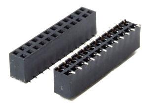 Buchsenleiste 2.54mm Amtek 6-Pin Dual Row Female Header Connector Right Angle