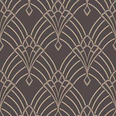 astoria art d co tapete dunkelgrau silber rasch 305319. Black Bedroom Furniture Sets. Home Design Ideas