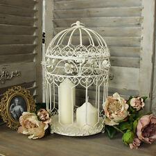 Creme metall dekorativ vogelkäfig kerzenhalter blumen kuchen display