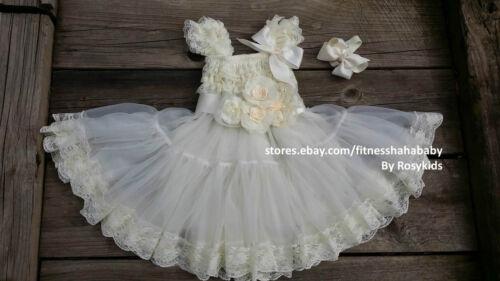 babydoll lace dress petti dress ruffler sash flower girl teaparty Birthday party