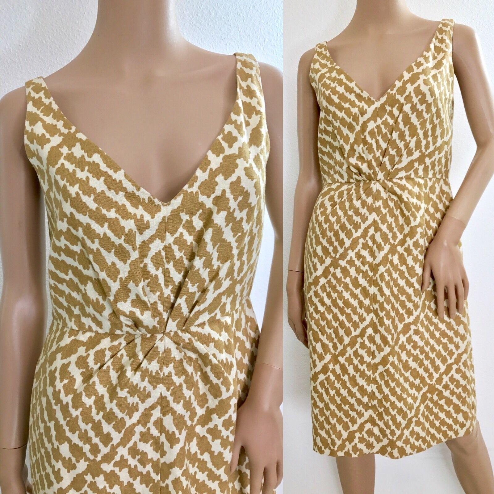 J CREW Women's Sleeveless Linen Blend Sheath Dress Career Sz SM A1