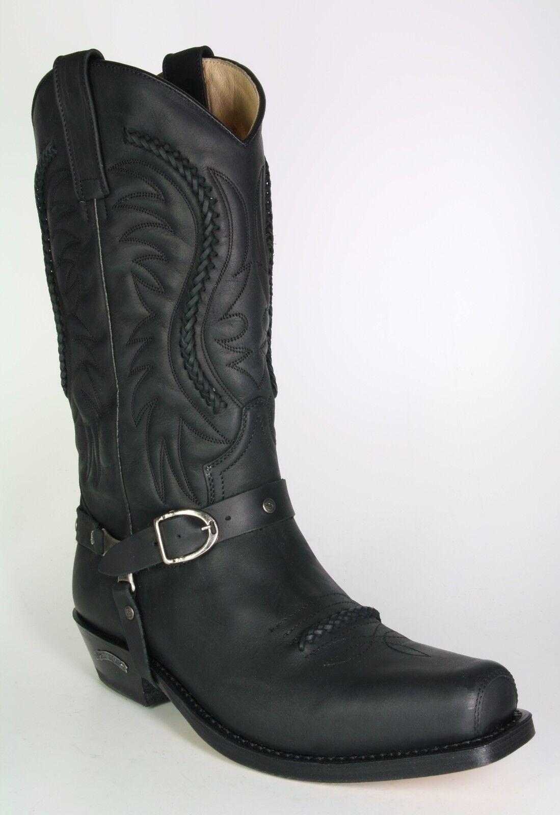 3434 sendra bottes de cowboy Monténégro noir biker bottes bottes de cowboy