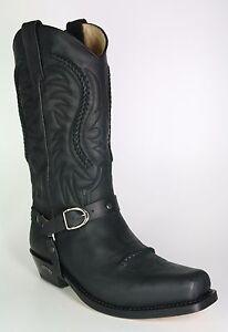 c6824d28de 3434 Sendra Cowboystiefel Negro Schwarz Bikerboots Cowboystiefel | eBay