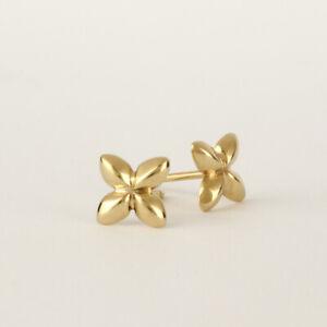 14k Solid Yellow Gold Stud Earrings