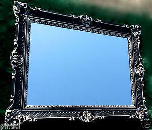 bilderrahmen barock schwarz silber 90x70 spiegelrahmen 50x70 antik gem lderahmen ebay. Black Bedroom Furniture Sets. Home Design Ideas