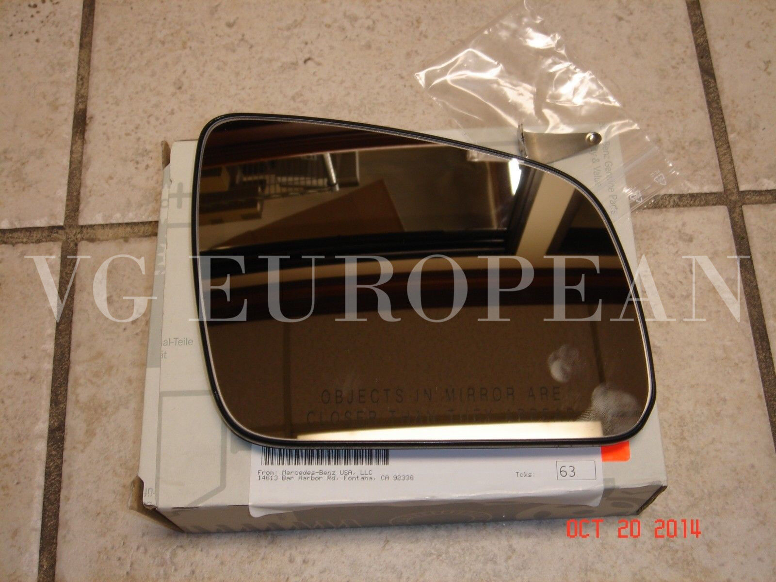 Mercedes Benz C Class Genuine Right Side Mirror Glass New C300 C350 C63 Amg