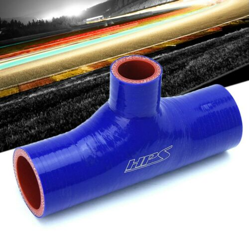 "63mm ID Blue Silicone Coupler Coolant T Shape Hose Tee Adapter 6/"" L HPS 2.5/"""