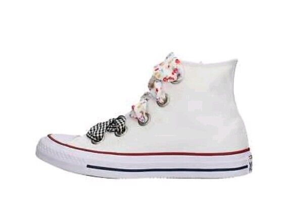Converse Chuck Taylor All Star White High Big Eyelet Ankle Boots  size 6 Bnib