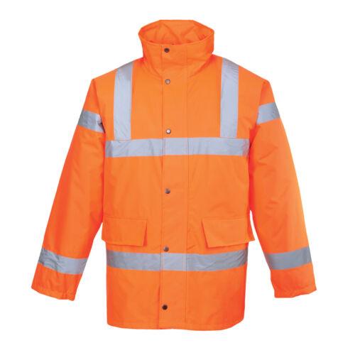 PortWest Men Hi-Vis Traffic Jacket Orange//Red//Yellow Various Size S460
