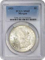 1921 Morgan Silver Dollar PCGS MS65
