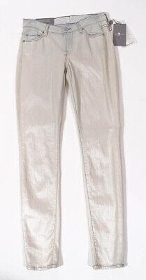NWT$78 FREE PEOPLE Diamond Skinny Jeans Navy Combo Stretch Women 25 26