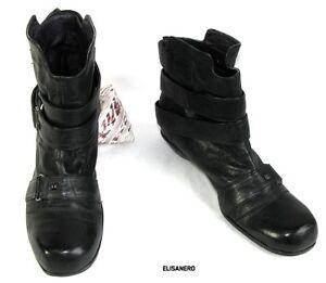 ELISANERO-Botines-casi-planas-en-piel-negro-36-5-Itl-37-5-Fr-COMO-NUEVO