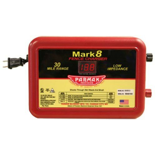 Parmak MARK8 Low Impedance 110//120-Volt 30-Mile Electric Fence Charger 300970