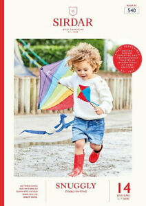 Sirdar-Kids-Brights-DK-Book-540-14-designs-Boys-amp-Girls-OUR-PRICE-9-75