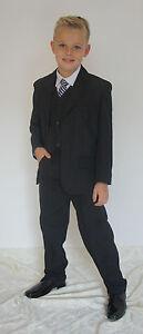 Willensstark S 5tlg Kommunionanzug Kommunion Anzug Festanzug Jungenanzug Schwarz Gr 122-164 Verpackung Der Nominierten Marke