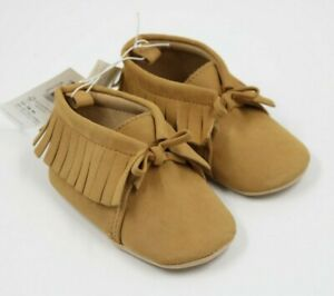 Old Navy Baby Girl Beige Fringed Ankle