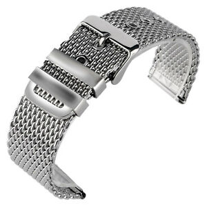 20-22-24mm-Stainless-Steel-Mesh-Bracelet-Men-Pin-Buckle-Wrist-Band-Watch-Strap