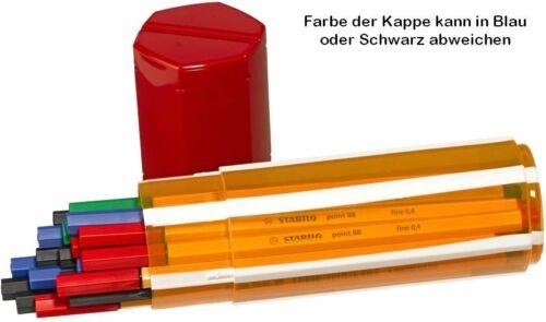 20 Stabilo Point 88 Fineliner 0,4 mm in Big Point Box schwarz grün blau rot