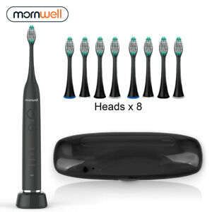 Travel-Electric-Toothbrush-USB-Inductive-Charging-8-Brush-Heads-amp-Travel-Case