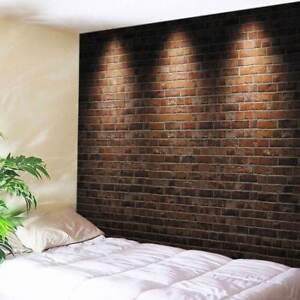 Impresión de arte de ladrillo y sombra Tapiz Colgante Decorativo Pared Tapiz Decoración del hogar