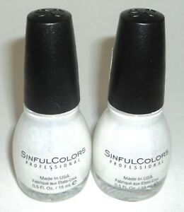 2-SINFUL-COLORS-Nail-Color-Polish-Limited-Time-Carded-Glitter-TRUMP-CARD-1725