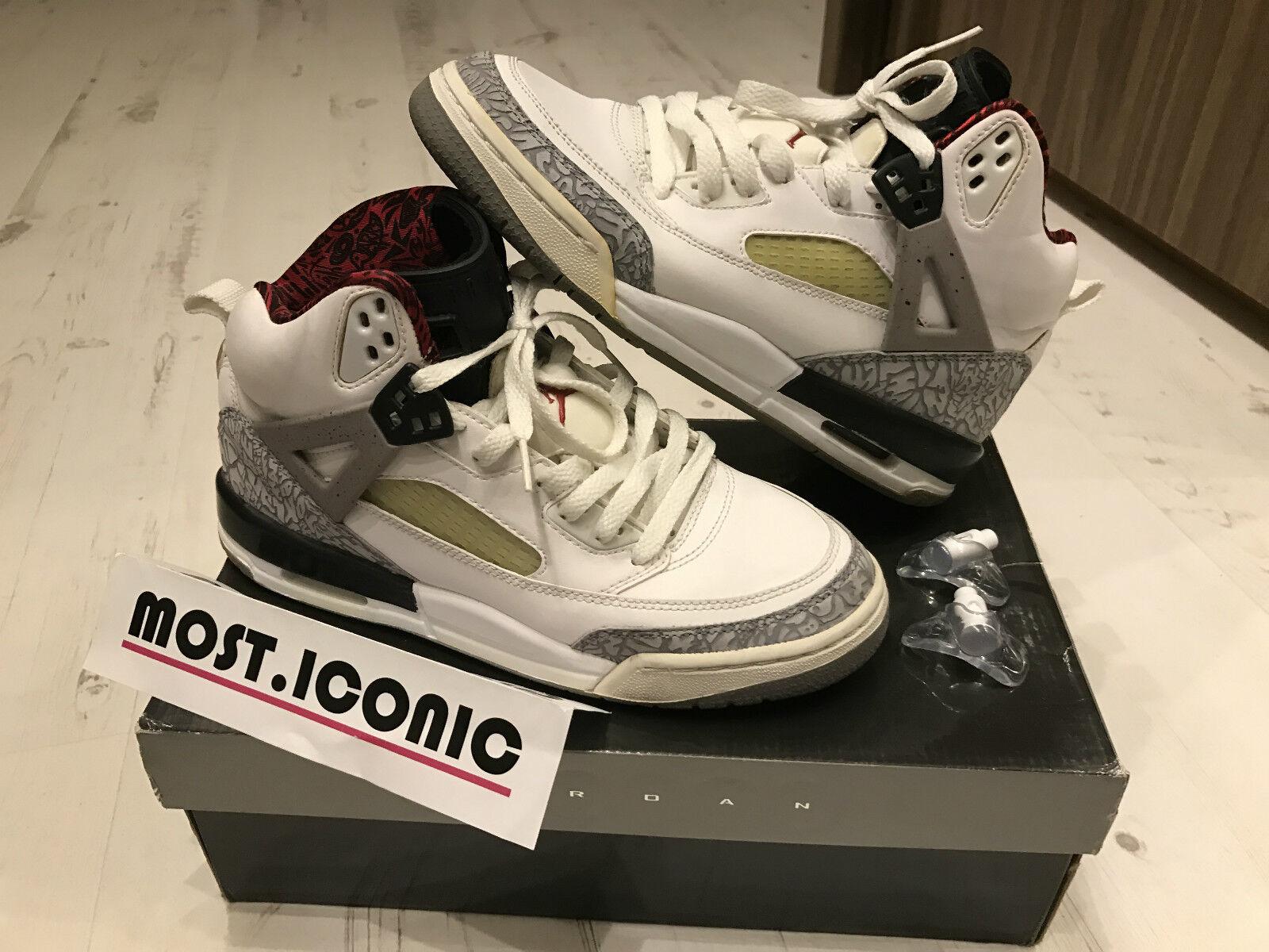Nike Air Jordan Spizike Weiß Cement - sz 7Y - schwarz aj i xi vi iii 3 4 11 7 iv