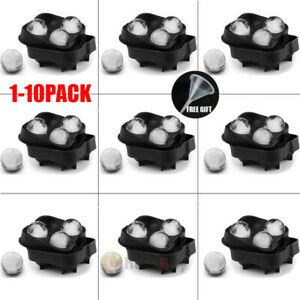 Large Cocktail Ice Maker Sphere Tray Cube Whiskey DIY Round Mould new